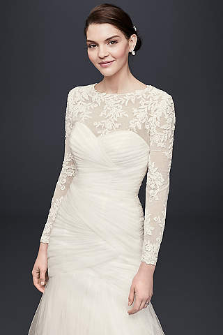 Embroidered Lace Long Sleeve Dress Topper