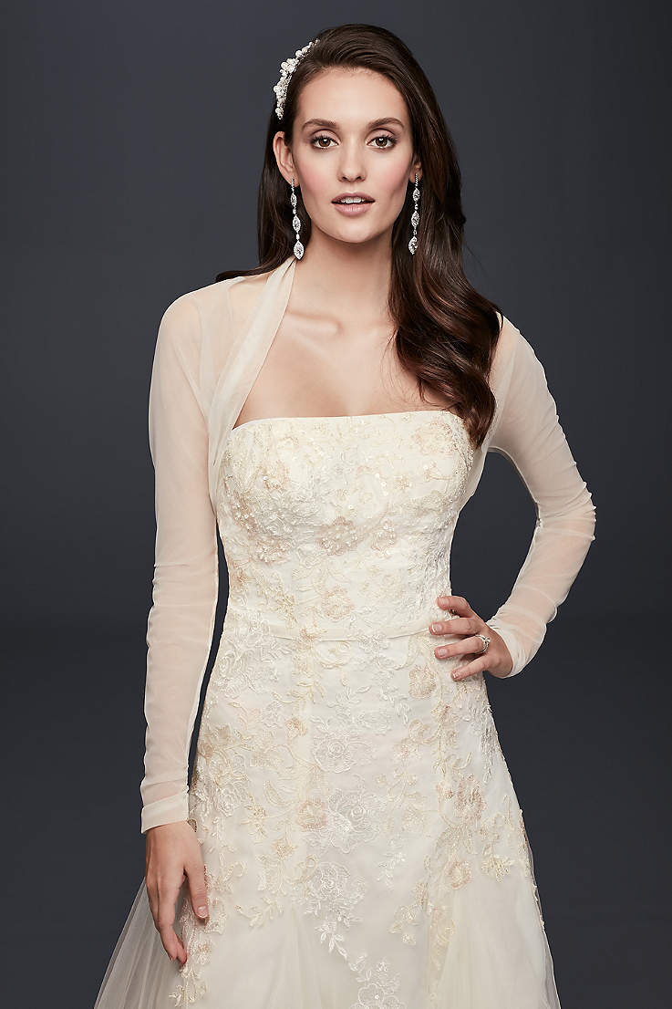 b4b412930efd1 Ivory Wedding Jackets & Wraps | David's Bridal