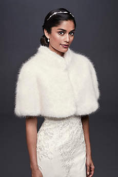 Faux-Fur Mock Neck Capelet