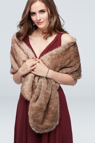 Pull-Through Faux-Fur Shoulder Wrap