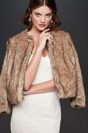 Faux-Fur Long Sleeve Jacket