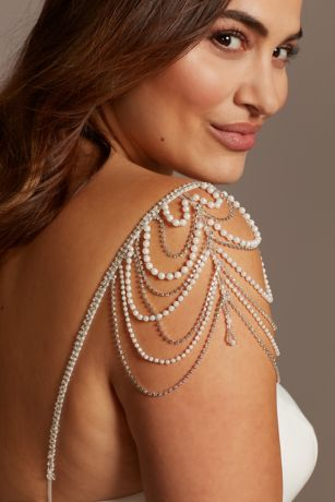 Pearl Crystal and Bead Detachable Spaghetti Straps