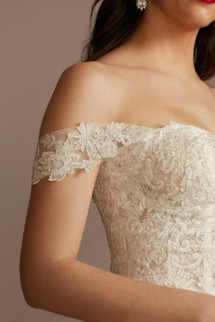 Lace Applique Detachable Swag Sleeves