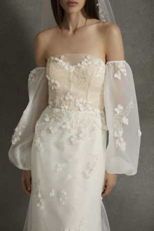 White by Vera Wang Removable Embellished Sleeves