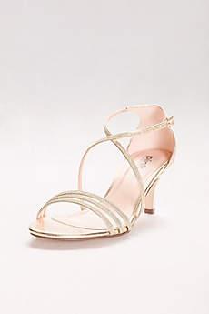 Pink Paradox Grey (Isla Delicate Thin Strap Metallic Low Heel Sandals)