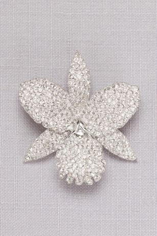Pave Orchid Brooch