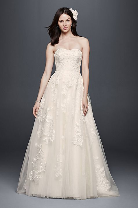 Beaded Sweetheart Tulle Ball Gown Wedding Dress | David\'s Bridal