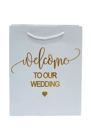 Welcome To Our Wedding Rope Handle Gift Bag
