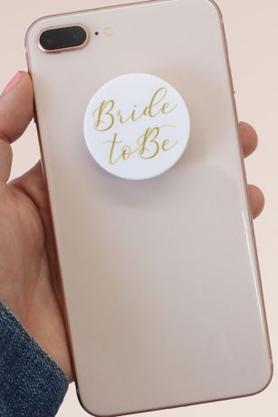 Gold Scripted Bride to Be Phone Grip