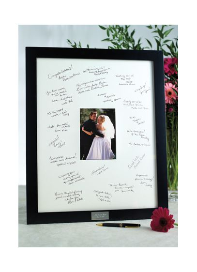 Personalized Guest Book Frame for Reception | David\'s Bridal