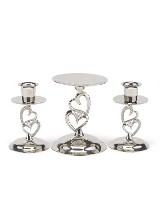 Dazzling Embrace Candle Stand Set