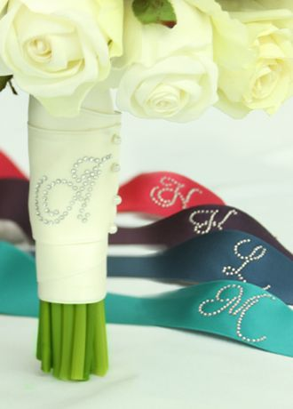 DB Exclusive Rhinestone Initial Bouquet Wrap