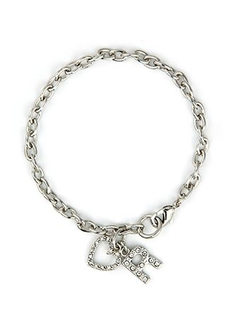 DB Exclusive Personalized Heart Charm Bracelet