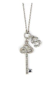 DB Excl Personalized Fleur De Lis Key Necklace