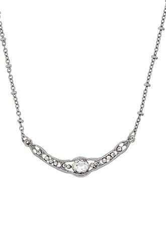 Downton Abbey Silver Crystal Collar Necklace