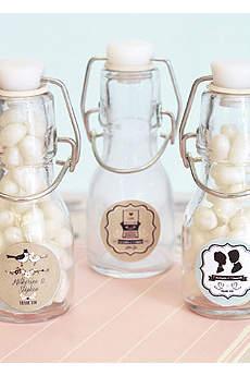 Personalized Vintage Wedding Mini Glass Bottles