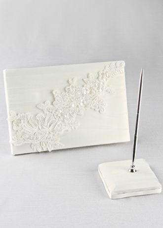 Sea of Petals Guest Book with Pen