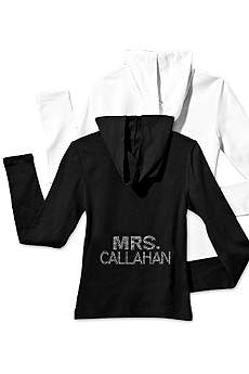 Personalized Multi-Row Rhinestone Mrs. Hoodie