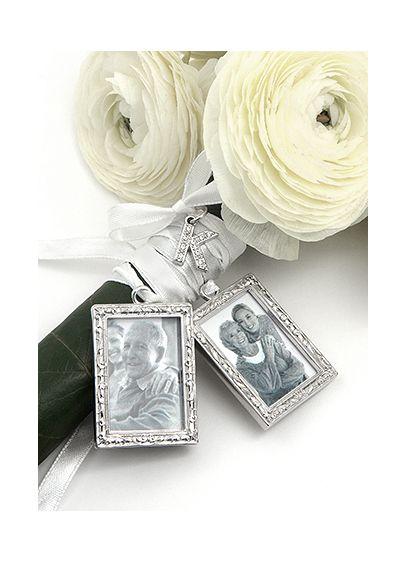 DB Excl Personalized Photo Bouquet Charm Set   David\'s Bridal