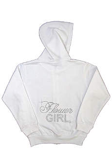 Big Bling Rhinestone Flower Girl Hoodie