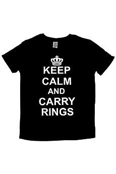 Keep Calm and Carry Rings Ring Bearer Tee
