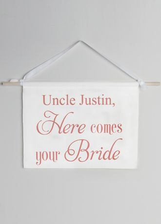 Personalized Canvas Here Comes Your Bride Sign