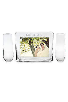 Mrs. and Mrs. Sand Ceremony Photo Vase Unity Set