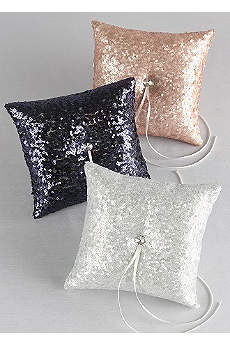 Sequin Ring Bearer Pillow