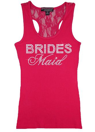 Bridesmaid Big Bling Lace Tank