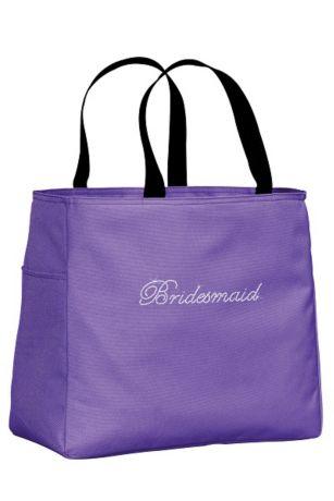 Rhinestone Bridesmaid Tote Bag