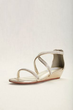 Touch Ups Grey;Yellow Sandals (Touch Ups Moriah Strappy Wedge Sandal)