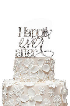 Rhinestone Happily Ever After Cake Topper
