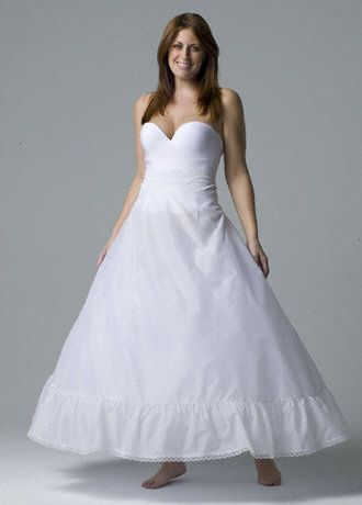 Plus Size Full Bridal Ball Gown Slip