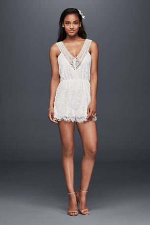 Short Jumpsuit Wedding Dress - Raga