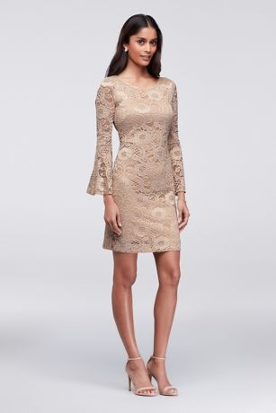 Short Sheath Long Sleeves Dress - Robbie Bee