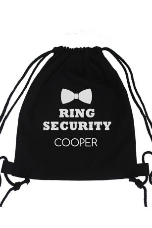 Personalized Ring Security Canvas Backpack