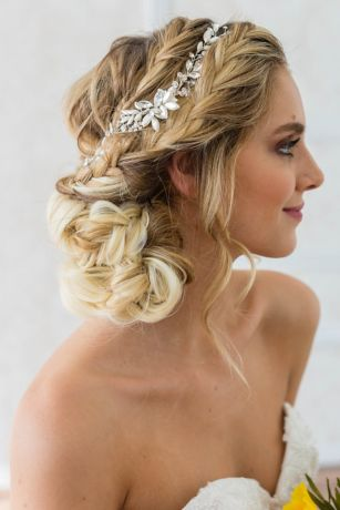 Swarovski Crystal Marquise Floral Halo with Combs