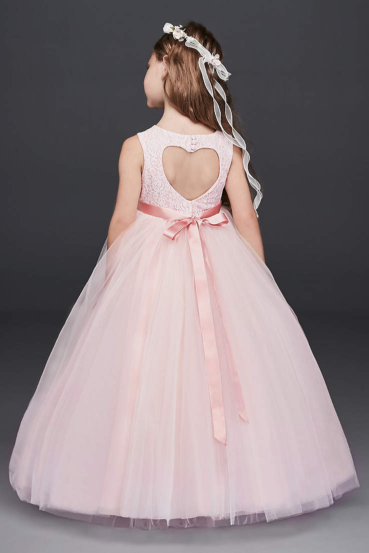 Flower girl dresses in various colors styles davids bridal long ballgown tank communion dress davids bridal izmirmasajfo