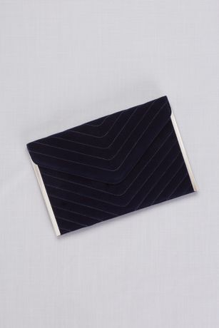 Quilted Velvet Envelope Clutch