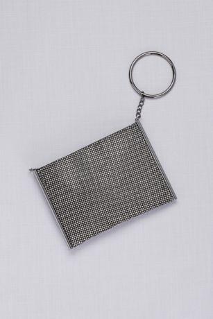 Metallic Mesh O-Ring Convertible Bag