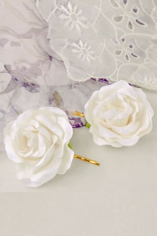 Handmade Paper Flower Hair Pin Set