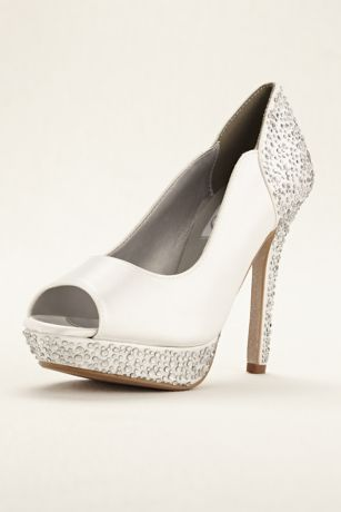 Dyeables White Pumps (Rosa Dyeable Platform Pump)