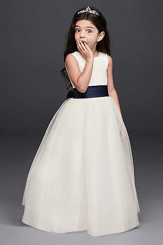 Flower girl dresses in various colors styles davids bridal long ballgown tank communion dress mightylinksfo