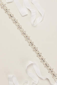 Pearl and Crystal Beaded Sash