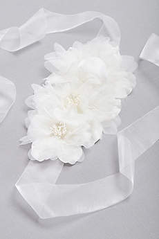 Oversize Chiffon Blossom Sash