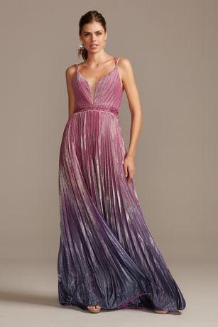 Long A-Line Spaghetti Strap Dress - Night Studio