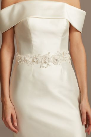 Beaded Lace Floral Sash