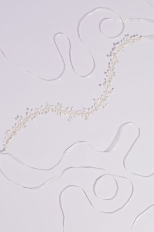 Oval Pearl and Beaded Branches Wire Sash