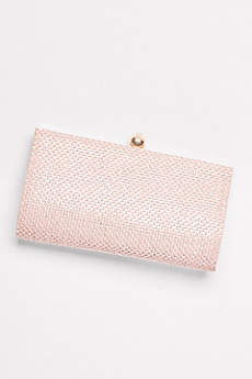 Crystal Clutch with Satin Back