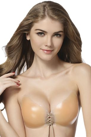 Braza Cleavage Gal Silicone Lace-Up Bra